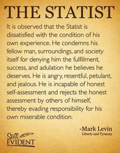 A  STATIST / supporting or based on the principle of statism. #BarrackObama