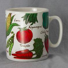 Houston Harvest Huge Vegetable Ceramic Coffee Mug