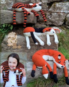Knitting Pattern for Dog, Cat, and Fox Neck Pillows - 3 knitting patterns in 1 for animal neck pillows or toys large enough to fit up to and adult neck size.