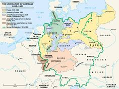 Germany At last a clear, accurate map showing the boundaries of the German Confederation, Prussia and the other larger states in Germany, prior to unification in German Confederation, History Of Germany, Royal Family Trees, History Quotes, My Family History, Alternate History, Family Genealogy, Historical Maps, Prussia
