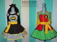 aventais Batman e Robin