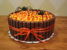 Candy Corn Cake @Brittany Horton lewis, your next bday cake!