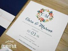 Convite Blue Love