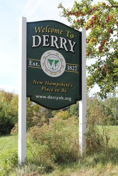 Derry, New Hampshire Town Welcome Sign