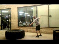 Brutal Iron Gym - One Arm Sledgehammer Swings - YouTube