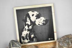 Dalmatiner auf Holz   -   21x21cm von DaiSign auf DaWanda.com  #Hund #Dalmatiner #Haustier #Freund #Geschenk #Geschenkidee #Weihnachten #Weihnachtsgeschenk