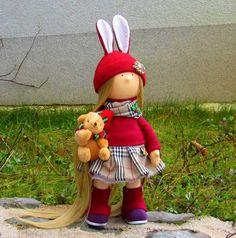 Scottish Doll-Handmade Doll-Fabric Doll-Rag by NICEDOLLSANDRABBITS