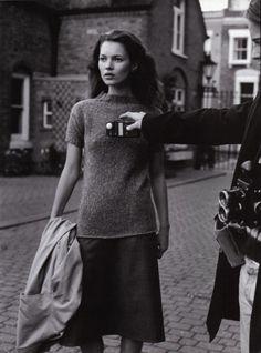 'A LIFE IN THE THEATRE'  Vogue Italia October 1996  Photographer: Bruce Weber  Stylist: Joe McKenna  Models: Kate, Fenn & Piers