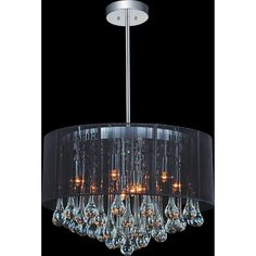 Shop for Silver Orchid Ilyinsky Glam Drum Shade Chandelier with chrome finish. Get free delivery On EVERYTHING* Overstock - Your Online Ceiling Lighting Store! Get in rewards with Club O! Candle Style Chandelier, Ceiling Pendant Lights, Drum Shade Chandelier, Chandelier Ceiling Lights, Chandelier Shades, Chandelier, Chrome Chandeliers, Drum Chandelier, Chandelier Lighting