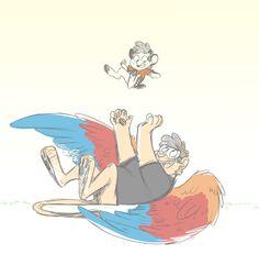 Monsterfalls Stanley and little Dipper - art by MOONTURTLE