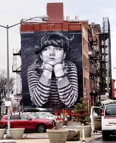 """Lost Time"" : high school senior Steven Paul's photo turned into hand-painted mural by Colossal Media in Brooklyn (LP)"