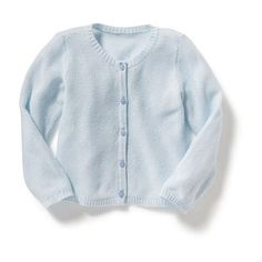 Old Navy Baby Textured Knit Cardigan ($12) ❤ liked on Polyvore featuring tops, cardigans, ice cube, crew neck top, j.crew cardigan, crew top, long sleeve tops and blue top