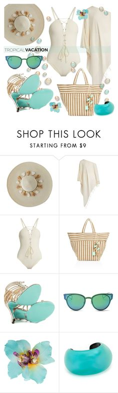 """""""Blue Hibiscus"""" by interesting-times ❤ liked on Polyvore featuring Lilly Pulitzer, Su Paris, Zeus+Dione, JADEtribe, Betsey Johnson, LMNT, Dorothy Perkins, Alexis Bittar and TropicalVacation"""