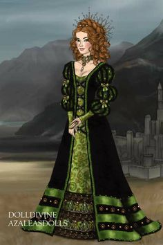 Green dreams for ArtemisRegime ~ by Inanna ~ created using the LotR Hobbit doll maker | DollDivine.com