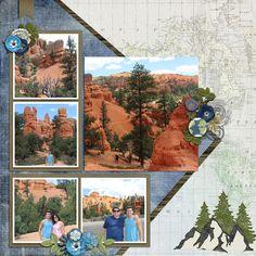 Utah - Scrapbook.com Scrapbook Journal, Scrapbook Travel Album, Vacation Scrapbook, Scrapbook Cards, Scrapbook Templates, Scrapbook Page Layouts, Scrapbook Sketches, Birthday Scrapbook, Wedding Scrapbook