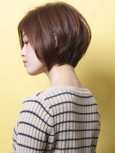 Low stacked bob haircut More