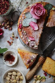 i decided to make this cake with valentines day in mind. have you heard the tale behind the Persian love cake? well it goes a bit like this, a woman was desperately in love with a prince and she ma…