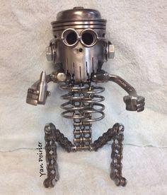Bonhomme tête de piston Scrap Metal Art, Craft Art, Sculpture, Welding, Arts And Crafts, Metal Art, Art Background, Soldering, Smaw Welding
