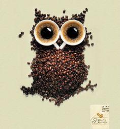 Coffee Owl just for you! Owl Coffee, Coffee Love, Coffee Art, Best Coffee, Coffee Cups, Yolo, Mosaic Crafts, Mosaic Diy, Coffee Drinkers