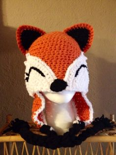 Check out this item in my Etsy shop https://www.etsy.com/listing/178102356/fox-hat