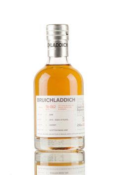 A 2006 vintage Bruichladdich, initially matured in an ex-bourbon cask, then finished in an ex-sherry cask before being bottled in 2016, at cask strength, 58.0% vol. Cask #16-062, a 10 year old single malt Scotch whisky from Islay, originally released for the #LaddieMP4 Micro-Provenance digital tasting.