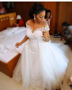 Amazing Off the Shoulder Arabic Mermaid Wedding Dress 2020 With Detachable Train Lace African Wedding Gown Nigerian Wedding Dress, Arabic Wedding Dresses, African Wedding Dress, Country Wedding Dresses, Sexy Wedding Dresses, Elegant Wedding Dress, Designer Wedding Dresses, Bridal Dresses, Wedding Gowns