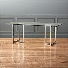 "Silverado 80"" Glass and Chrome Dining Table + Reviews 