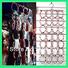 28 circles foldable scarf hanger display scarf ties  organizer holder-in Storage Holders & Racks from Home & Garden on Aliexpress.com
