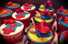 If we adopt a boy, our theme will be superman. Cuz superman was adopted Baby Shower Cupcakes, Cupcake Party, Cupcake Cookies, Shower Cakes, Baby Shower Themes, Baby Boy Shower, Cupcake Toppers, Baby Showers, Shower Ideas