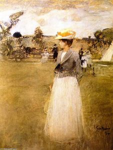 Tennis, Drawing 1890 - James Guthrie - Sir James Guthrie,1859 – 1930 was a Scottish painter, best known in his own lifetime for his portraiture, although today more generally regarded as a painter of Scottish Realism. (mostly self taught)