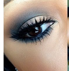 Navy and creme Eyeshadow