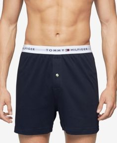 Tommy Hilfiger Men's Underwear, Athletic Knit Boxer - Blue S Men's Underwear, Tommy Hilfiger, Bikini Photos, Baby Clothes Shops, Sportswear, Plus Size, Lingerie, Jeans, Casual