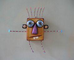 Big Hug 4U, Original Found Object Wall Art, Wood Carving, by Fig Jam Studio