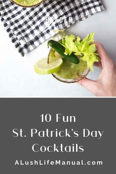My 10 Favorite St. Patrick's Day Cocktails - A Lush Life Manual Best Vodka Cocktails, Dark Rum Cocktails, Green Cocktails, St Patrick's Day Cocktails, Cocktails For Parties, Coffee Cocktails, Drinks, Cocktail Recipes For A Crowd, Food For A Crowd