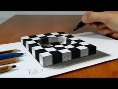 3D Trick Art on Paper - Real Loch Ness Monster - New Viewpoint - YouTube