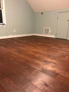 plywood flooring floors from plywood to hardwood look, Staining complete Stained Plywood Floors, Plywood Plank Flooring, Diy Wood Floors, Engineered Hardwood Flooring, Diy Flooring, Painted Floors, Staining Plywood, Cheap Wood Flooring, Laminate Flooring