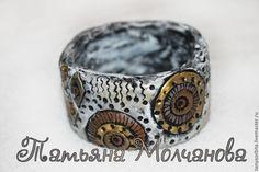 """Купить Браслет """"Петроглифы"""" - чёрно-белый, браслет, Браслет ручной работы, браслеты"""