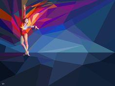 Charis Tsevis, diseñador visual originario de Grecia, creó esta espectacular y colorida serie de Ilustraciones geométricas, realizadas para una campaña de Yahoo! como cobertura de los Olímpicos d