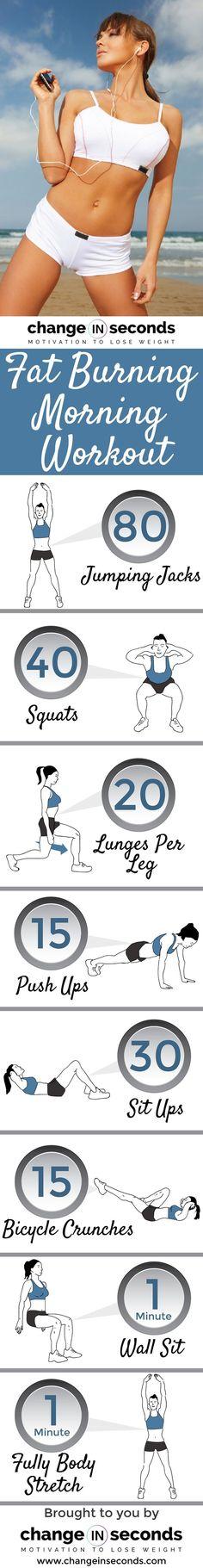 Fat Burning Morning Workout (Download PDF) #workout