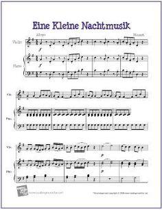 Eine Kleine Nachtmusik by Mozart | Free Sheet Music for Violin - http://makingmusicfun.net/htm/f_printit_free_printable_sheet_music/eine-kleine-nachtmusik-violin-solo.htm