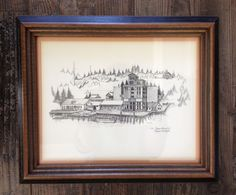 Vintage Picture Olympia Brewing Co, Olympia Wa Signed C. Pennacchi Litho/Etching