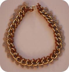 Venessa Arizaga inspired DIY necklace using lace