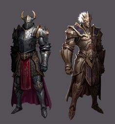 Teol & Vedmak, Idols of the Fractured. Fantasy Character Design, Character Concept, Character Art, Fantasy Armor, Fantasy Weapons, Dnd Characters, Fantasy Characters, Armor Concept, Concept Art