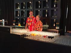 Nieuwe bar met achterkast voor personeelsfeest op eigen locatie (wkr vriendelijk)