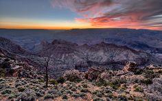 Sunset & grand canyon