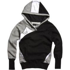 Fox Racing Exhaust Girls Hoody Pullover Sports Sweatshirt - Black