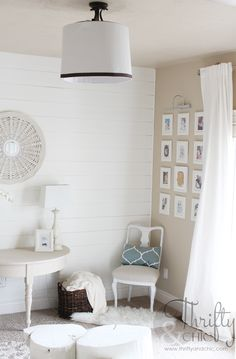 How-to make a large lamp shade for a ceiling dome light.   Found on:   http://www.thriftyandchic.com/search?updated-max=2014-05-02T06:00:00-06:00&max-results=5&start=19&by-date=false
