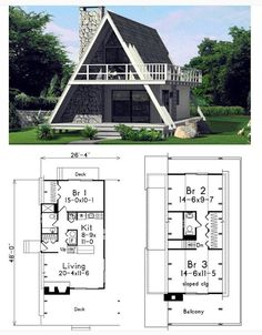 A-Frame House Plan. A-Frame House Plan. A-Frame House Plan. Tiny House Cabin, Tiny House Plans, Tiny House Design, Cabin Homes, House Floor Plans, Tiny Houses, Small House Plans Under 1000 Sq Ft, Courtyard House Plans, A Frame Floor Plans