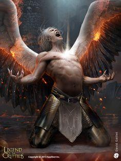Proud Fallen Angel Alukiel - reg by DavidGaillet on deviantART