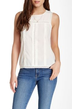 Search for Sanity | Pleated Front Shell Top